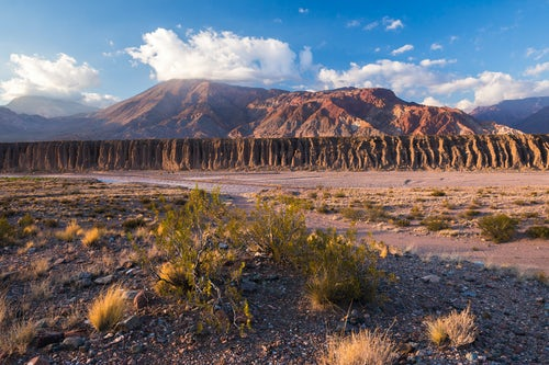 Argentina Travel Landscape Photography Andes Mountain Range landscape along route 7 from Argentina to Chile Uspallata Mendoza Province Argentina South America