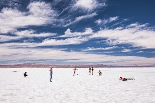 Bolivia Travel Landscape Photography Taking perspective photos at Uyuni Salt Flats Salar de Uyuni Uyuni Bolivia South America