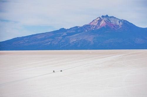 Bolivia Travel Landscape Photography Uyuni Salt Flats Salar de Uyuni 4wd tour seen from Island called Isla Incahuasi Uyuni Bolivia South America