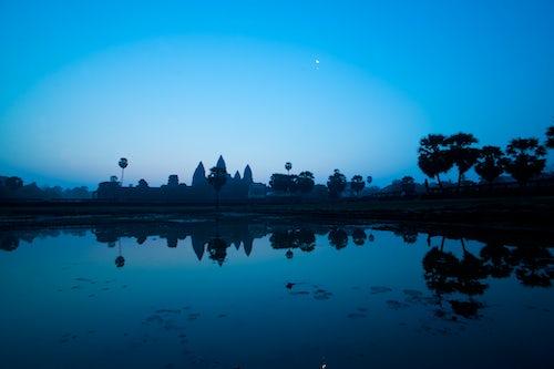 Cambodia Travel Photography Angkor Wat and the Moon Angkor Cambodia Southeast Asia