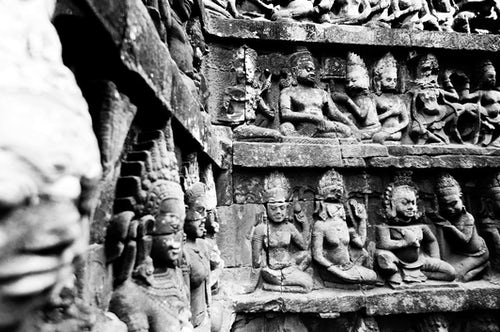 Cambodia Travel Photography Bas Relief Stone Carvings at The Terrace of the Leper King Angkor Thom Cambodia Southeast Asia