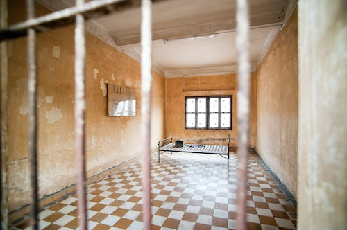 Cambodia Travel Photography Torture Room at The Tuol Sleng Genocide Museum S 21 Prison Phnom Penh Cambodia Southeast Asia