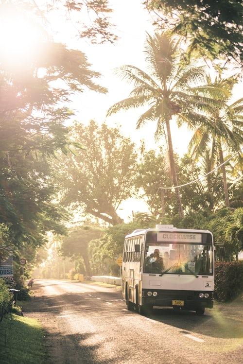Cook Islands Landscape Travel Photography Clockwise bus Rarotonga Cook Islands