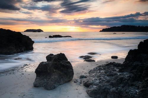 Costa Rica Travel Landscape Photography Playa Espadilla Beach at sunset Manuel Antonio Pacific Coast Costa Rica