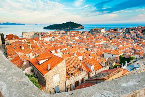 Croatia Travel Photography Dubrovnik Old Town seen from Dubrovnik City Walls Dalmatia Croatia