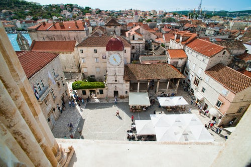 Croatia Travel Photography Photo of St Lawrence Square viewed from the Cathedral of St Lawrence Trogir Dalmatian Coast Croatia Europe