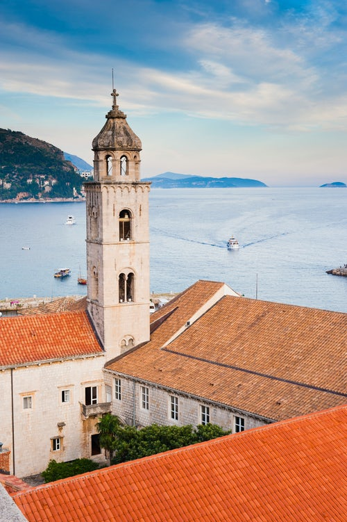 Croatia Travel Photography Photo of the Dominican Monastery in Dubrovnik Old Town seen from Dubrovnik City Walls Dalmatia Croatia