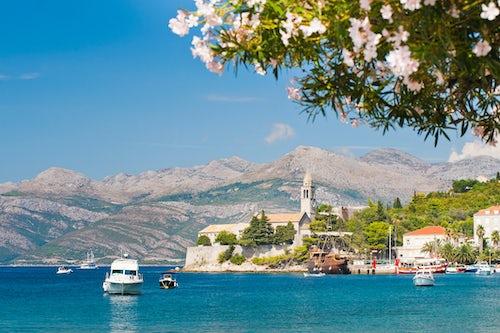 Croatia Travel Photography Photo of the Franciscan Monastery Lopud Island Elaphiti Islands Dalmatian Coast Croatia