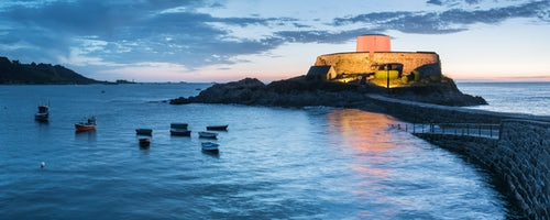 England Landscape Photography Photographer Fort Grey aka Cup and Saucer at night Guernsey Channel Islands United Kingdom