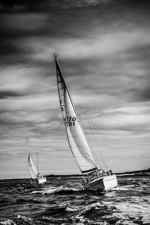 England Travel Photography Sailing boat at Swanage Dorset England United Kingdom Europe