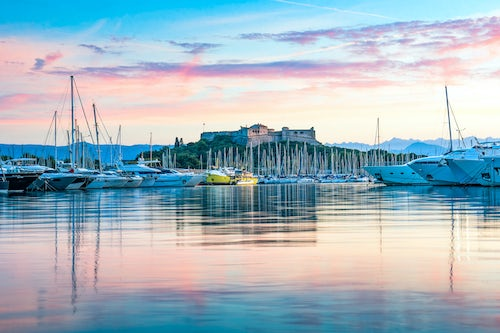 France Landscape Photography Fort Carre and Antibes Harbour at sunrise Provence Alpes Côte d Azur South of France Europe Europe