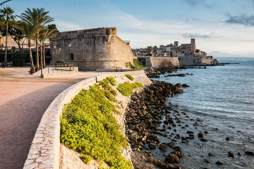 France Travel Photography Antibes city walls at sunrise Provence Alpes Côte d Azur South of France Europe