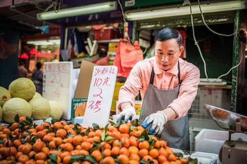 Hong Kong Street Photography Wet Market in Chun Yeung Street Hong Kong Island Hong Kong China 2