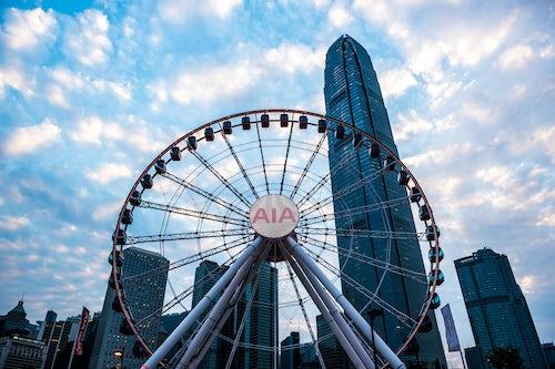 Hong Kong Travel Photography Hong Kong observation tower a ferris wheel in central Hong Kong China