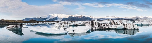 Iceland Landscape Photography Jokulsarlon Glacier Lagoon a glacial lake filled with icebergs in South East Iceland