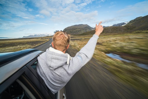 Iceland Travel Photography Driving on Route 1 in South Region of Iceland Sudurland Europe