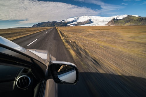 Iceland Travel Photography Driving on Route 1 in South Region of Iceland Sudurland