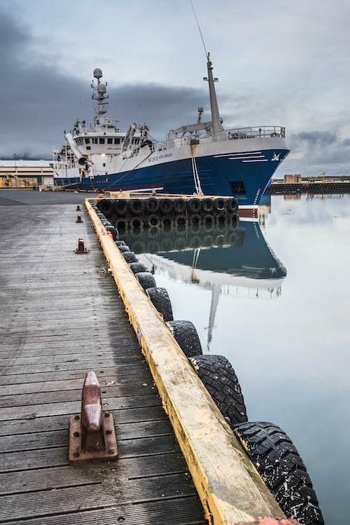 Iceland Travel Photography Fishing Harbour at Hofn East Fjords Region Austurland Iceland Europe