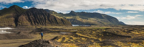 Iceland Travel Photography Tourist in Skaftafell National Park South Region of Iceland Sudurland