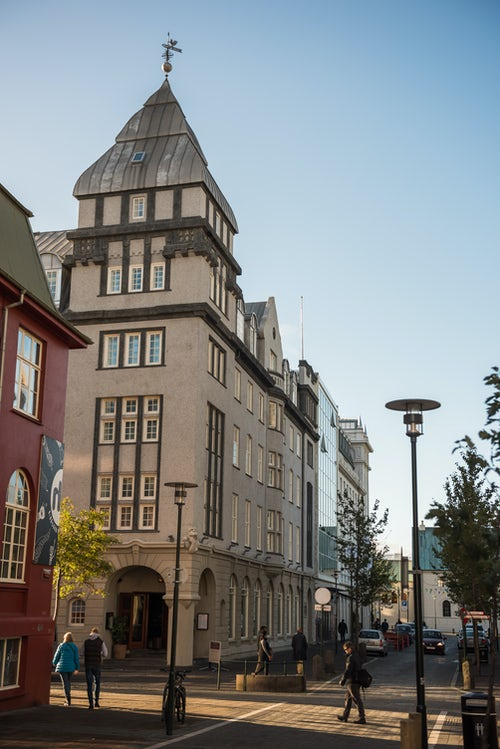 Iceland Travel Photography Traditional buildings in Reykjavik Old Town Iceland Europe