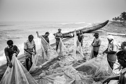 India Travel Photography Fishermen at Kappil Beach Varkala Kerala India 3