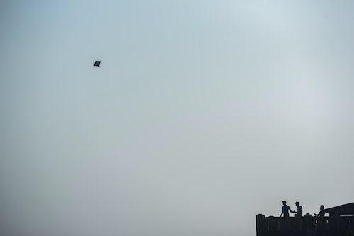 India Travel Photography Kite flying Varanasi Uttar Pradesh India