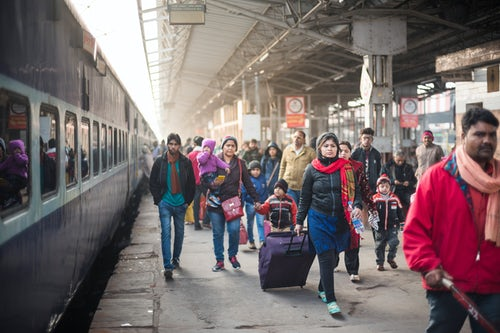 India Travel Street Photography Lucknow train station Uttar Pradesh India