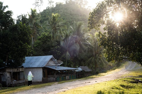 Indonesia Travel Photography Sungai Pinang a traditional Indonesian village near Padang in West Sumatra Indonesia Asia
