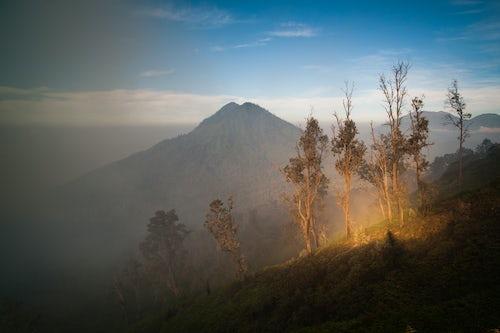 Indonesia Landscape Travel Photography Dramatic landscape of Kawah Ijen Volcano Java Indonesia Asia