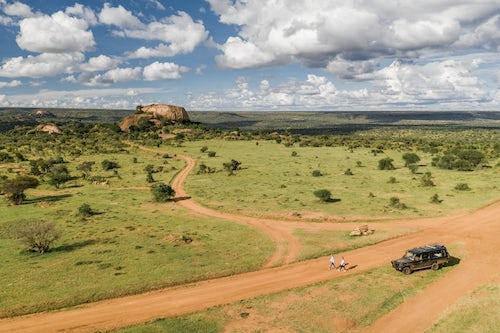 Kenya Drone Photography Baboon Rock at Sosian Ranch Laikipia County Kenya drone