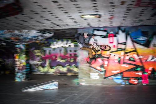 London Street Photography BMX at Southbank Skatepark London Borough of Lambeth England United Kingdom