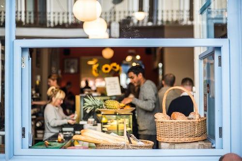 London Travel Photography Cafe at Primrose Hill in Chalk Farm London Borough of Camden London England United Kingdom