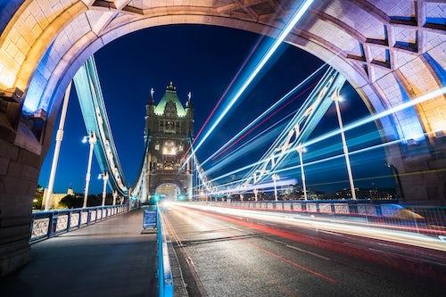 London Travel Photography Tower Bridge at night Southwark London England