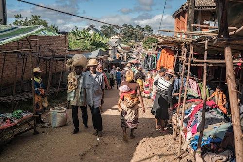 Madagascar Documentary Travel Photography Ambohimahasoa Saturday Market Haute Matsiatra Region Madagascar Central Highlands