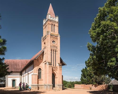 Madagascar Travel Photography Church at Ambohimahasoa Haute Matsiatra Region Madagascar Central Highlands