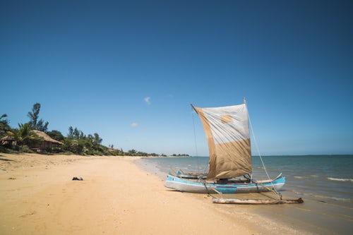 Madagascar Travel Photography Pirogue a traditional Madagascar sailing boat Ifaty Beach Madagascar Africa 2