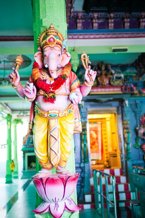Malaysia Travel Photography Colourful Statue of the Hindu God Ganesh at a Hindu Temple in George Town Penang Malaysia Southeast Asia