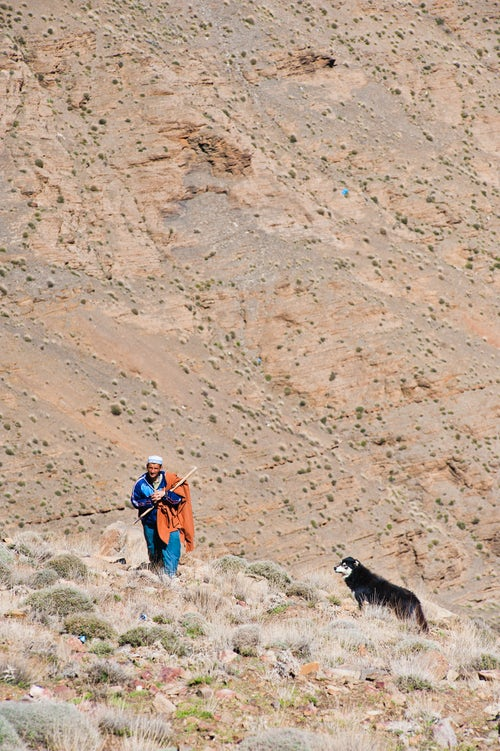 Morocco Travel Photography Berber man just outside Marrakech on the Tizi n Tichka pass Morocco North Africa Africa