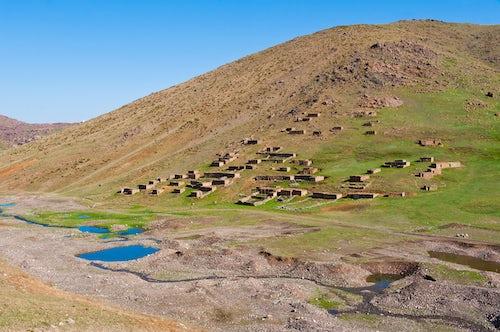 Morocco Travel Photography Berber village at Oukaimeden High Atlas Mountains Morocco North Africa Africa