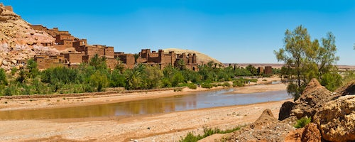 Morocco Travel Photography Kasbah Ait Ben Haddou and the Ounila River UNESCO World Heritage Site near Ouarzazate Morocco North Africa Africa 2