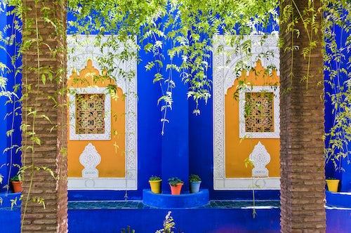 Morocco Travel Photography Majorelle Gardens aka Gardens of Yves Saint Laurent Marrakech Marrakesh Morocco North Africa Africa