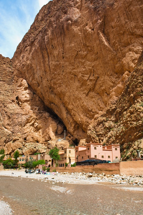 Morocco Travel Photography Todgha River running through the Todra Gorge Morocco North Africa Africa