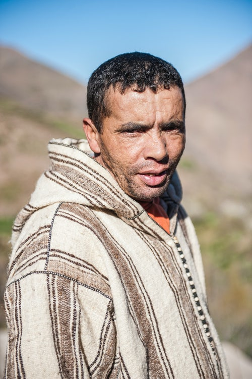 Morocco Travel Portrait Photography Portrait of a Berber man in Ouanskra a Berber village in the High Atlas Mountains Morocco North Africa Africa