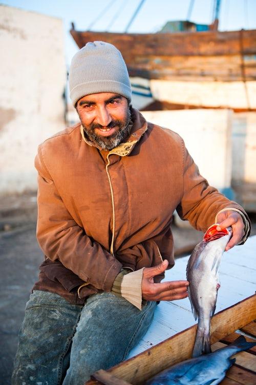 Morocco Travel Portrait Photography Portrait of a fisherman in Essaouira Fishing Port Essaouira Morocco North Africa