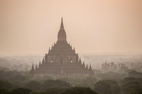 Myanmar Burma Travel Photography Sunrise at Sulamani Buddhist Temple Bagan Pagan Ancient City Myanmar Burma