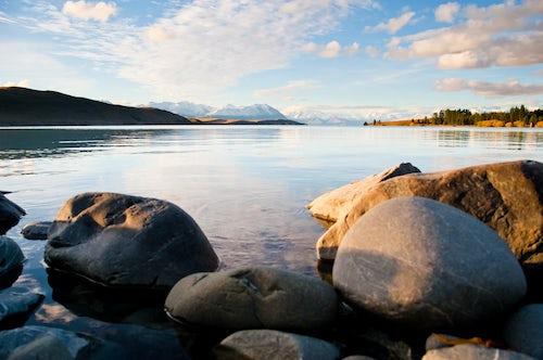 New Zealand Landscape Photography Landscape photo at Dusk of Lake Tekapo South Island New Zealand