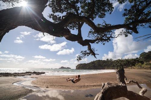 New Zealand Travel Photography Swing on the Beach Tutukaka Coast Northland Region North Island New Zealand