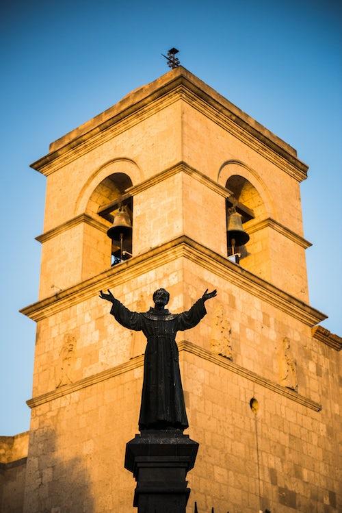 Peru Architecture Travel Photography San Francisco Church and Monastery San Francisco Plaza Arequipa Peru South America