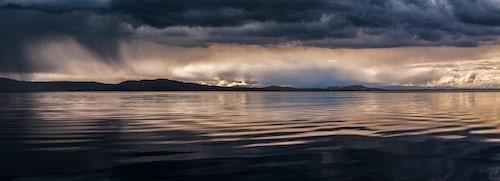 Peru Landscape Travel Photography Dramatic storm clouds over Lake Titicaca Peru South America 2