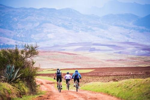 Peru Travel Photography Cusco Cuzco Cycling in the countryside near Maras Cusco Province Peru South America